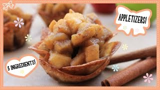 Healthy Apple Pie Appetizers! 5 Ingredients & 10 Minutes! Collaboration with MyCupcakeAddiction!