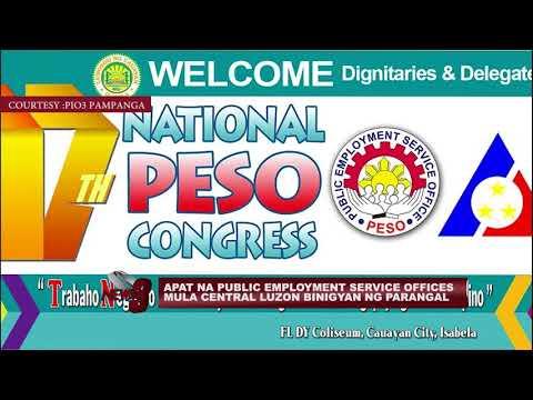 4 NA PUBLIC EMPLOYMENT SERVICE OFFICES MULA CL, NABIGYANG PARANGAL SA 17TH NATIONAL PESO CONGRESS