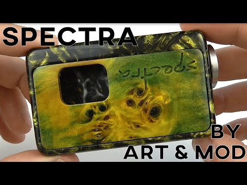 SPECTRA BY ART & MOD - Special Resin and Stabilized wood door - HIGH END SQUONKER