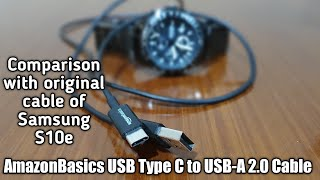 AmazonBasics USB Type C to USB-A 2.0 Male Cable | Unboxing and Review