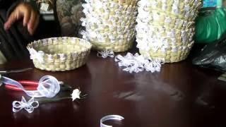 Como decorar un tortillero de  tule