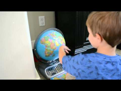 Two year old can identify more than 50 countries on the globe