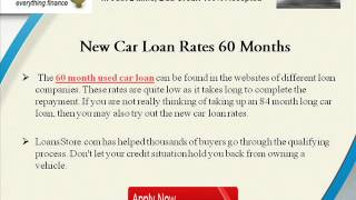 Used Car Loan Rates 60 Months