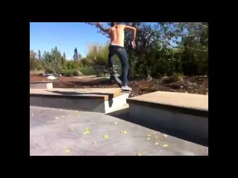 Lyndon Strandquist skateboarding