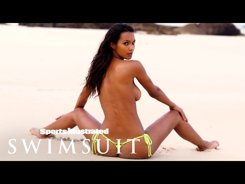 Lais Ribeiro Spreads Out On The Beach | Intimates | Sports Illustrated Swimsuit