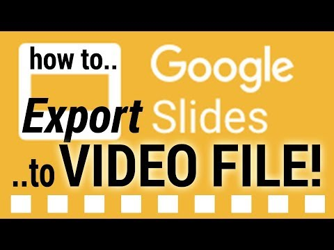 How-to (SIMPLE)- Export Google Slide-show to VIDEO file in 10 seconds!
