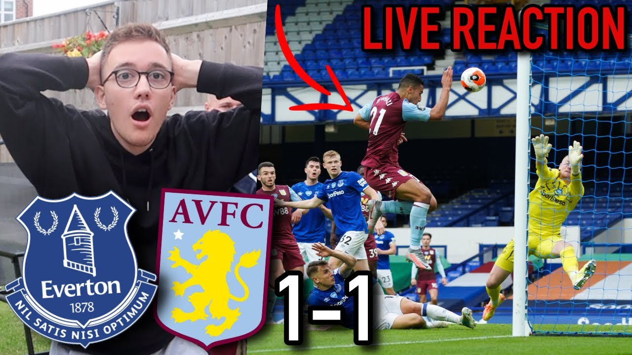 LIVE REACTION | VILLA CONCEDE LATE TO DROP CRUCIAL POINTS AT EVERTON | EVERTON 1-1 ASTON VILLA