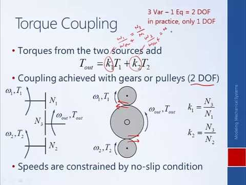 System Dynamics and Control: Module 4c - Modeling with Gears
