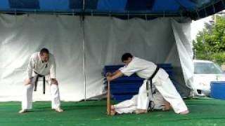 Kyokushin Kai karate Baseball Bat Break Uwajimaya Sep. 2011