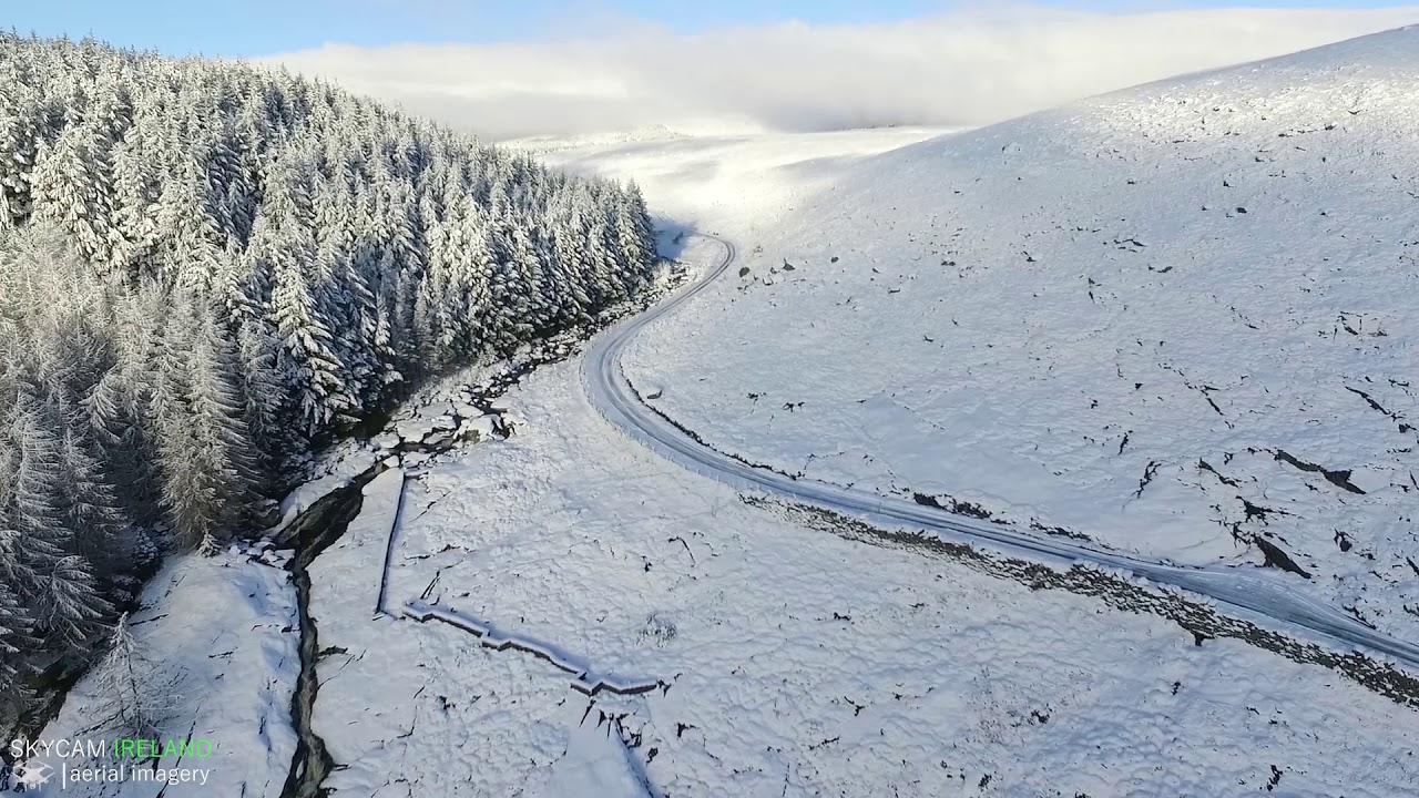 Watch This Stunning Drone Footage Of Snow Covered Wicklow Mountains