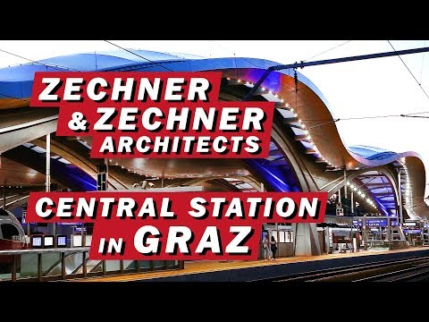 Architecture of GRAZ CENTRAL STATION  - Graz Hauptbahnhof /