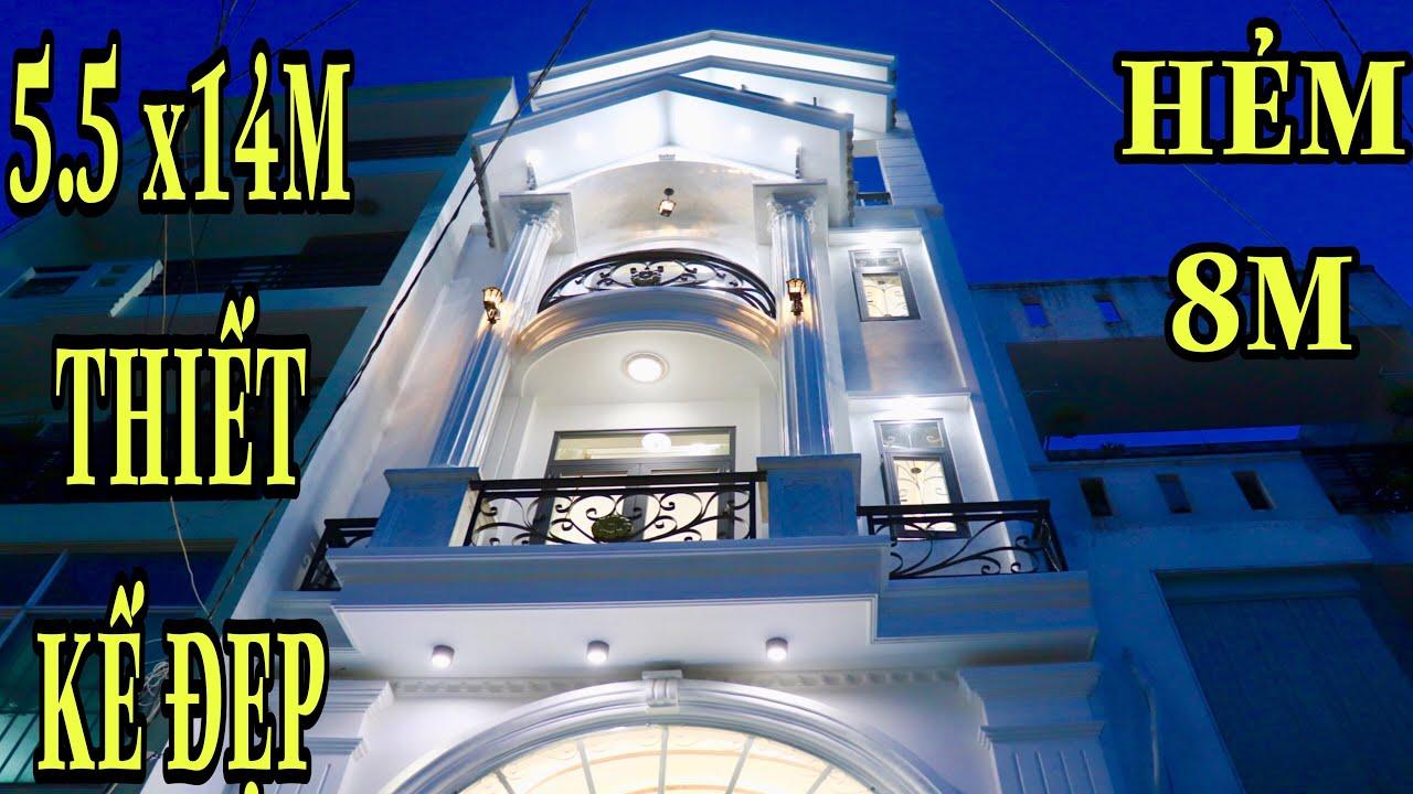 Bán nhà Gò Vấp  ( 24 )5.5m x 14m Biệt thự mini siêu đẹp 4 lầu thiết kế đẹp lung linh hẻm 8m