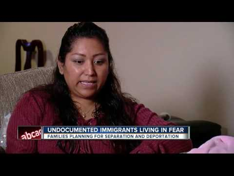 Undocumented immigrants living in fear