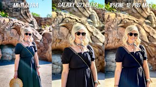 Xiaomi Mi 11 Ultra vs Galaxy S21 Ultra vs iPhone 12 Pro Max Camera Test Comparison