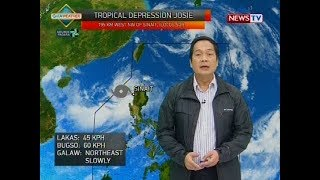 BT: Bagyong Josie, weather update as of 12:10 p.m. (July 21, 2018)