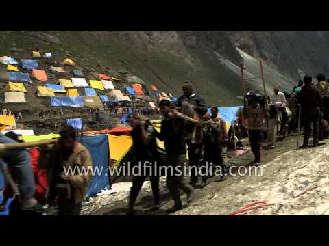 Horseback pilgrims and tented camps in the Himalaya: Amarnath Yatra