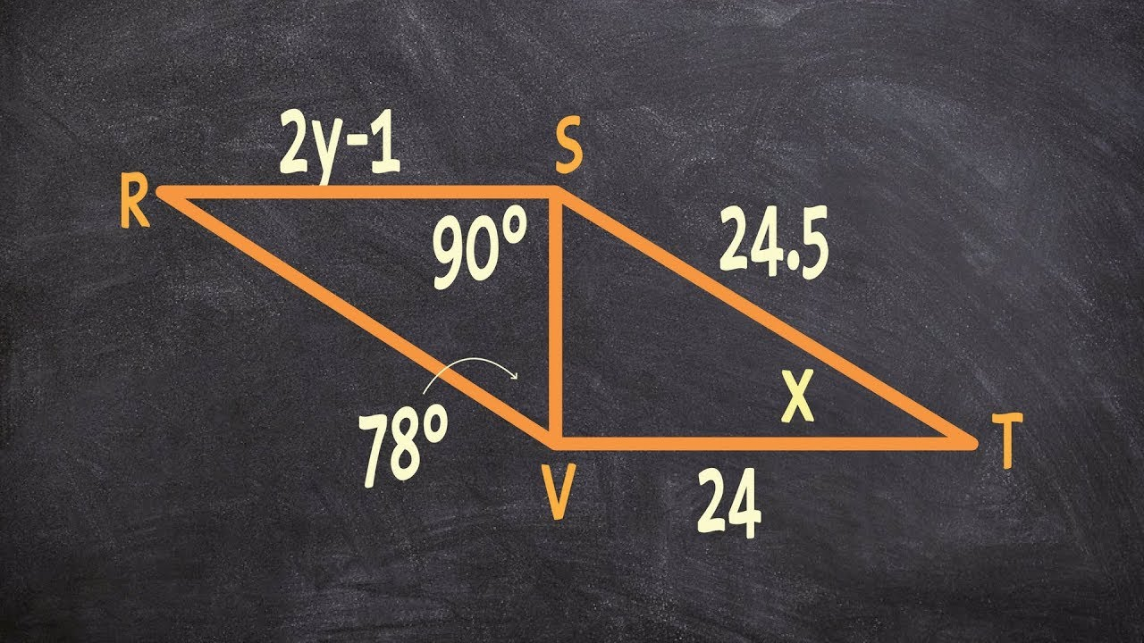 Determine The Value Of Your Variables With Congruent Triangles Youtube