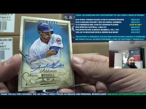The Layton Sports Cards 2016 30 Box/Case World Series Baseball Mixer CRAZY!!