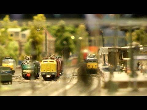 Fantastic model railroad layout in N scale or N gauge from the Netherlands