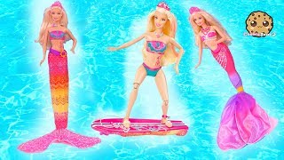 Transforming Mermaids ! Dolphin Magic Barbie Doll Sets Part 4