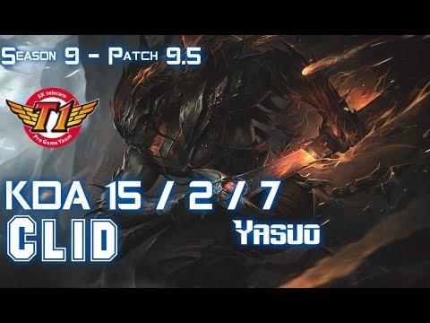 SKT Clid YASUO vs RYZE Mid - Patch 9.5 KR Ranked