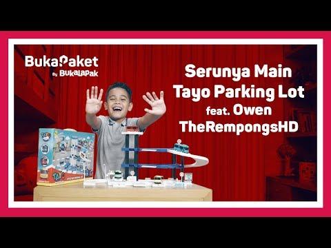 Mainan Mobil-mobilan Keren: Tayo Parking Lot feat. Owen TheRempongsHD | BukaPaket for Kids