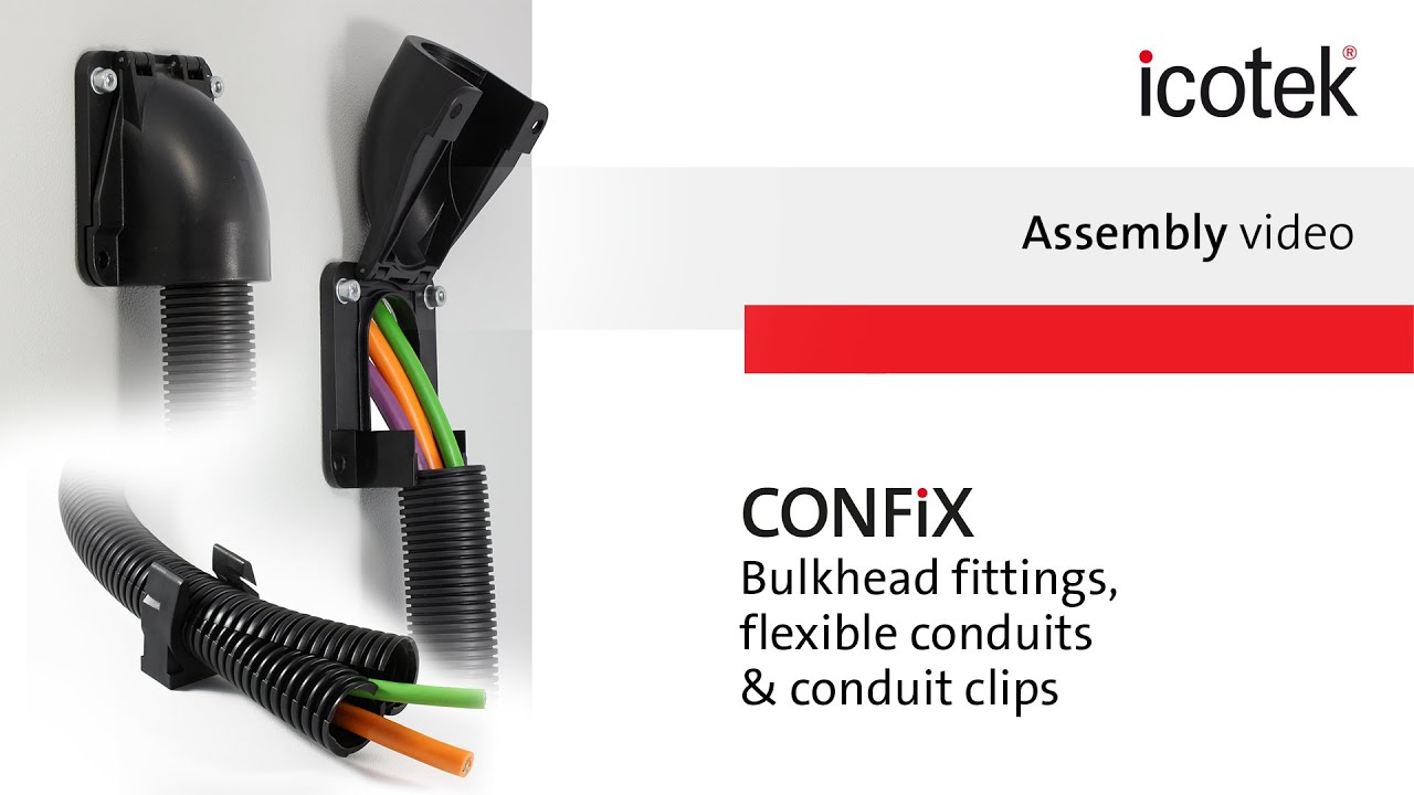 Cable Conduit System Confix Assembly Icotek Youtube Wire On Images Of Electrical Wiring With Flexible
