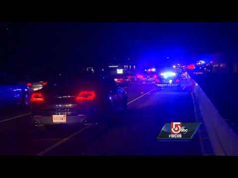 Pedestrian struck by vehicle on Route 128