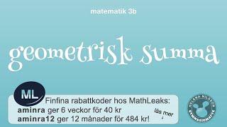 3b 4.1.1 geometrisk summa