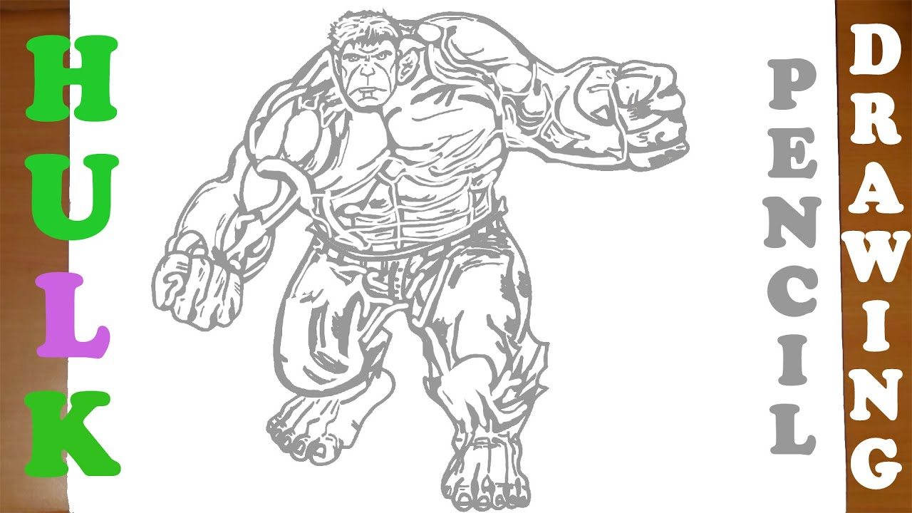 How To Draw Hulk Full Body Easy From Avengers Marvel Superheroes For