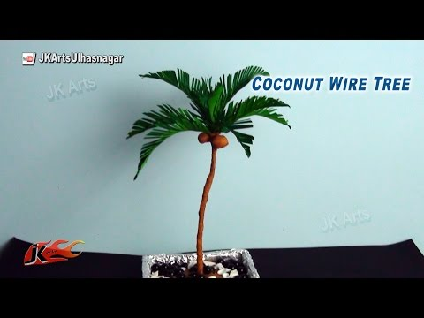 DIY How To Make Coconut Tree From Crepe Paper | JK Arts 800