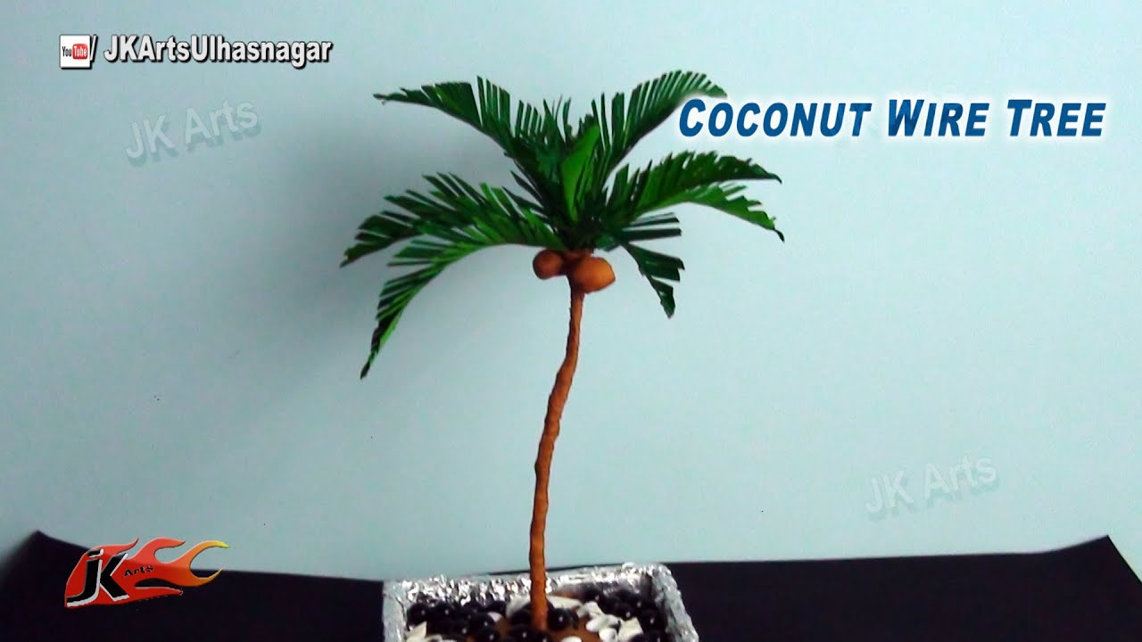 Papercraft Coconut Paper Tree Tutorial | How to make | JK Arts 800