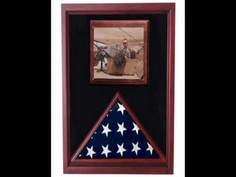 Burial Military Flag Display Case American Funeral Frame