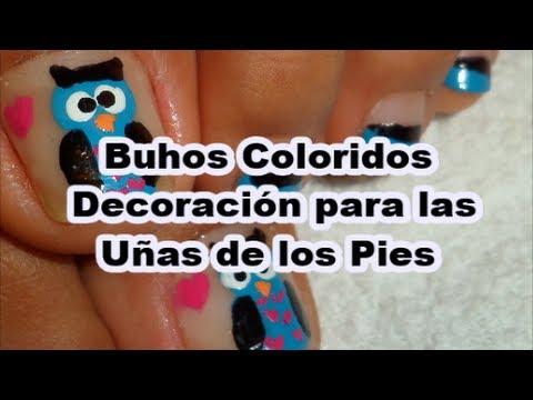 Buhos decoraci n para las u as de los pies nail art cute - Decoracion con buhos ...