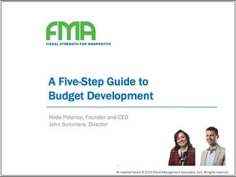 5 Step Guide to Budget Development - Resources for Nonprofit Financial Management