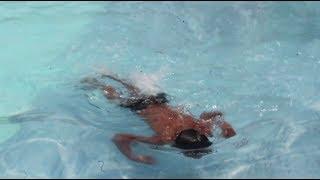 अशोक दर्जी पोहिलो पटक swimming गर्दै | With DJ RUPAK | Swims like a Fish