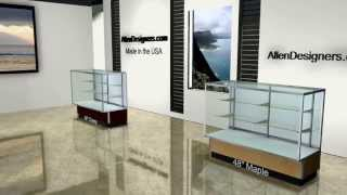 Sturdy Streamline Glass Display Case