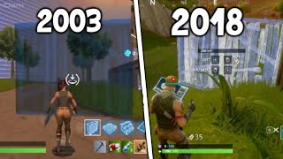 Evolución de Fortnite battle Royale 1990-2018