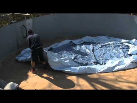 Diy above ground pool liner installation in 25 minutes - Above ground swimming pool removal ...