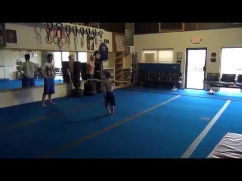 Michael Guthrie training 7yr old Zach Thomas