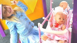 Куклы Тост В СУМКЕ  КУКЛЫ АНАБЕЛЬ БЕБИ БОРН КАТЯ ИСЧЕЗЛА КАТЯ ПРОПАЛА Игры Для Детей про Беби бон