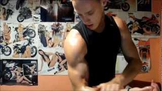 Super Ripped Muscle Guy Flexing - More Tanned, More Glutes!