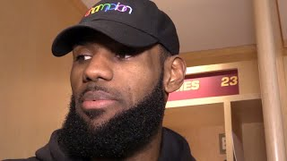 LeBron James on his quadruple-double in Cavs win over Pacers