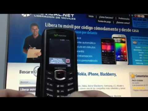 Liberar Samsung B2700, desbloquear Samsung B2700 de Movistar Movical Net