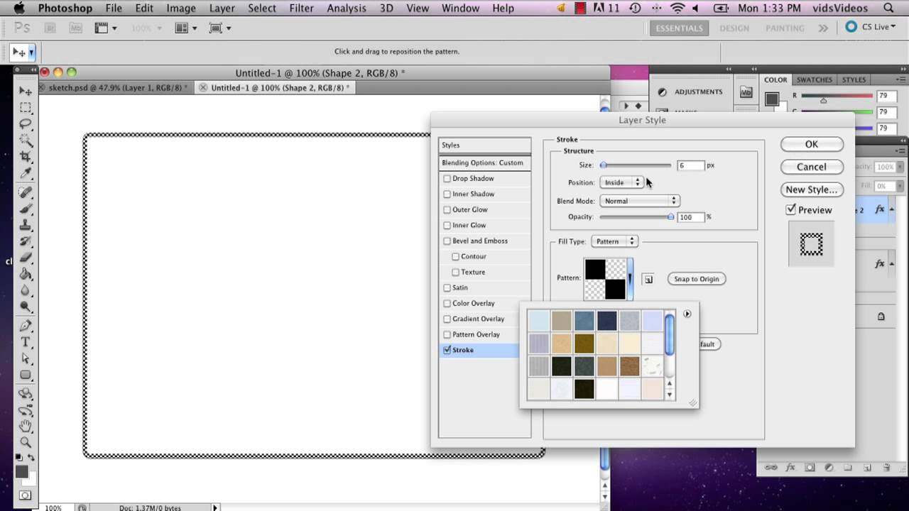 How to Make a Dotted Border in Photoshop With Rounded Corners ...