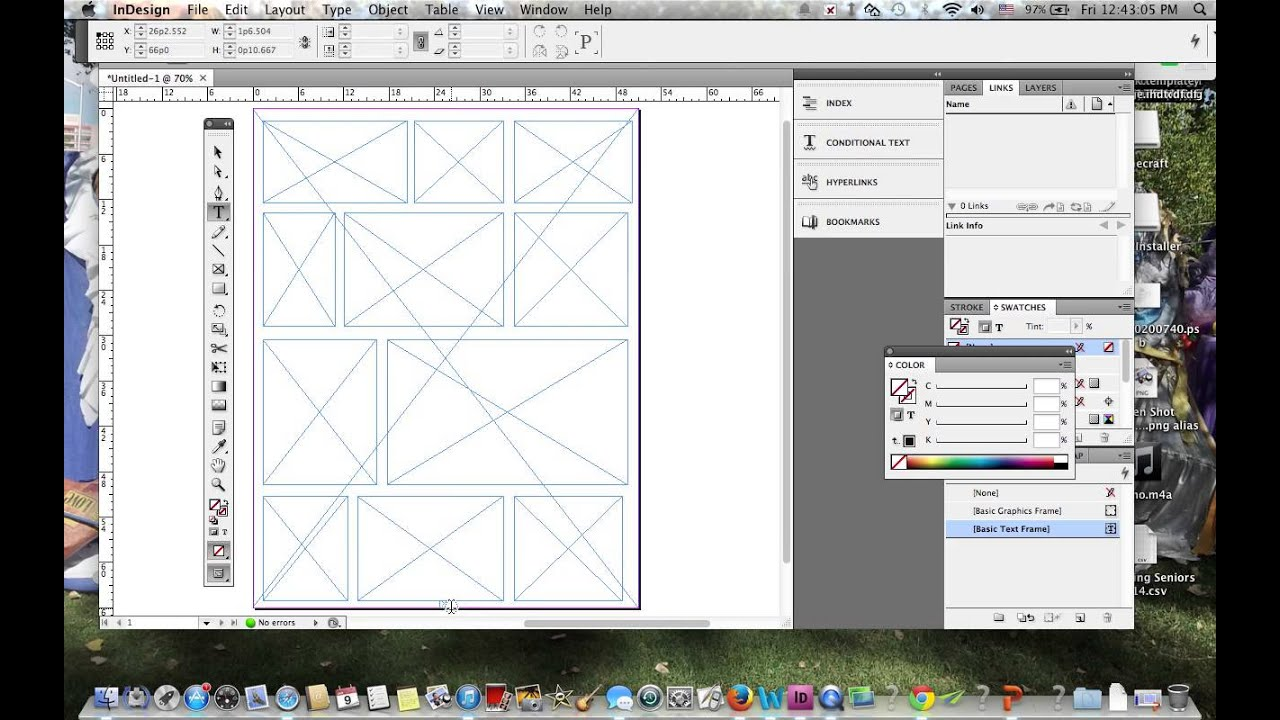 Making a Yearbook Template in Adobe Indesign - YouTube