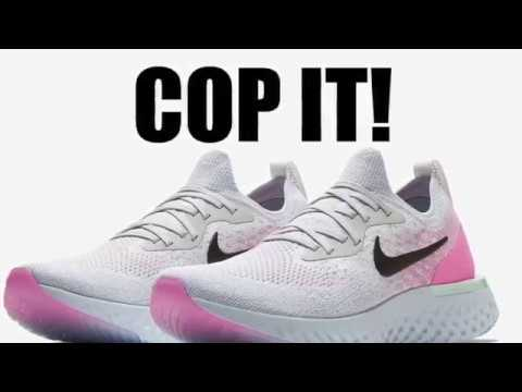 top fashion 4fc27 06487 Nike Epic React Flyknit Pure Platinum Hydrogen Blue Pink Beam Black