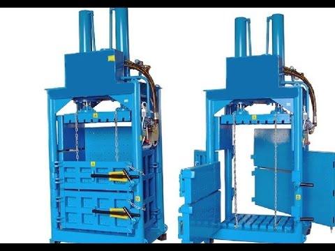 cardboard baling machine