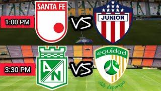 NACIONAL 2 VS LA EQUIDAD 2 / SANTA FE 0  VS JUNIOR 0 - LIGA I 2021 - CUARTOS DE FINAL (VUELTA)