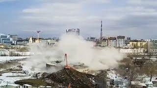 В Екатеринбурге снесли остатки телебашни